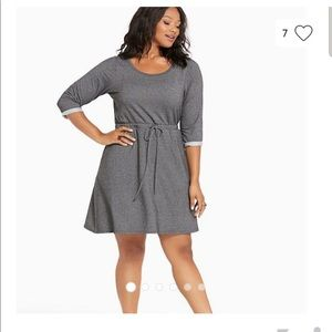Torrid  Grey Tie Waist Dress Sweatshirt sz 3X
